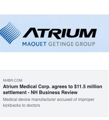 Atrium Medical Corp. agrees to $11.5 million settlement