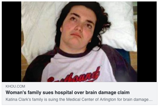 Woman's family sues hospital over brain damage claim