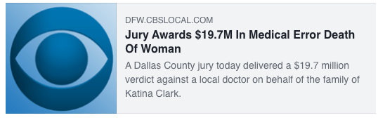 Jury Awards $19.7M In Medical Error Death Of Woman
