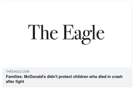 Families: McDonald's didn't protect children who died in crash after fight