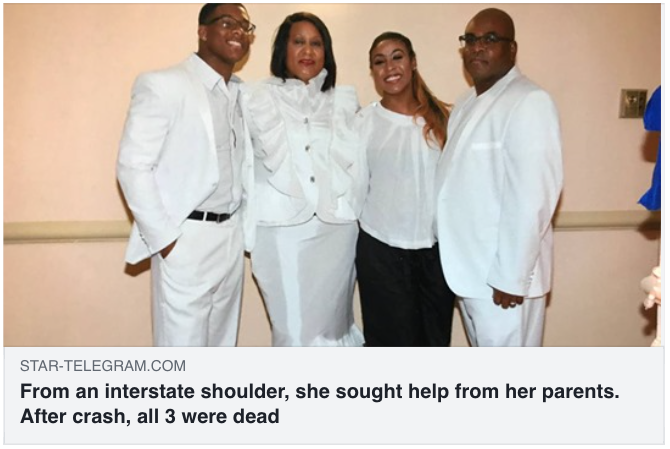 From an interstate shoulder, she sought help from her parents. After crash, all 3 were dead - Hamilton Wingo