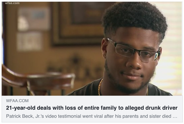 21-year-old deals with loss of entire family to alleged drunk driver - Hamilton Wingo